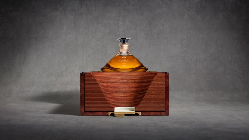 macallan Macallan 72 Years Old – Meet This Exclusive and Rare Whiskey mac 2018 72 years old in lalique genesis decanter box partly open