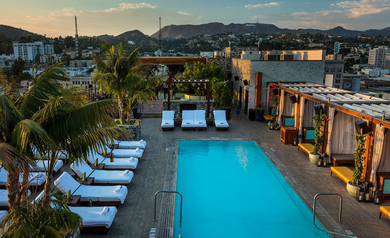Touching The Sky: The 5 Best Rooftop Hotel Bars in Los Angeles rooftop hotel bars Touching The Sky: The 5 Best Rooftop Hotel Bars in Los Angeles the highlt room