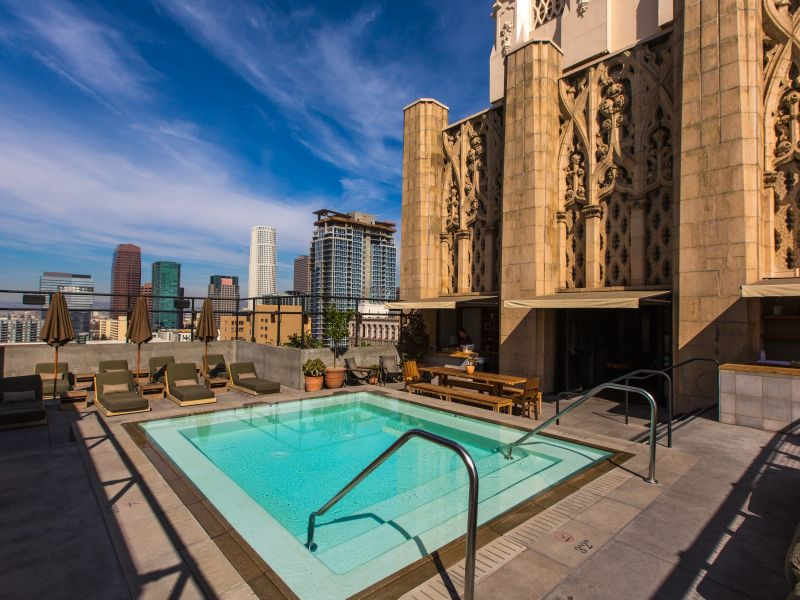 rooftop hotel bars Touching The Sky: The 5 Best Rooftop Hotel Bars in Los Angeles upstairs