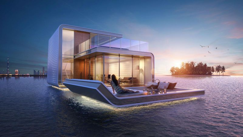 luxury houseboats The 5 Most Supreme and Luxury Houseboats Around The Globe floating seahorse
